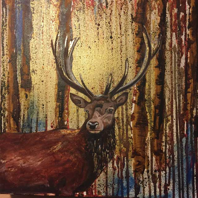 Autumn Stag in Acrylic